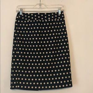 Banana Republic factory polka dot pencil skirt